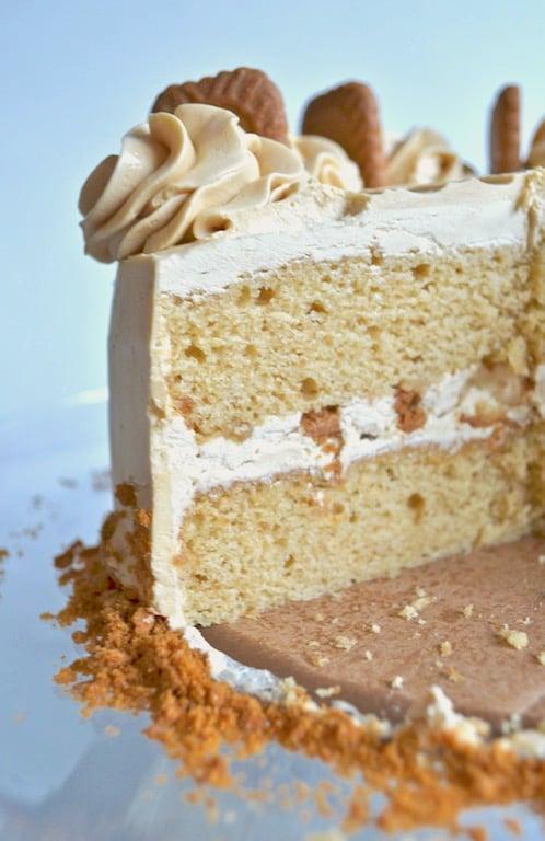 slice shot of cake