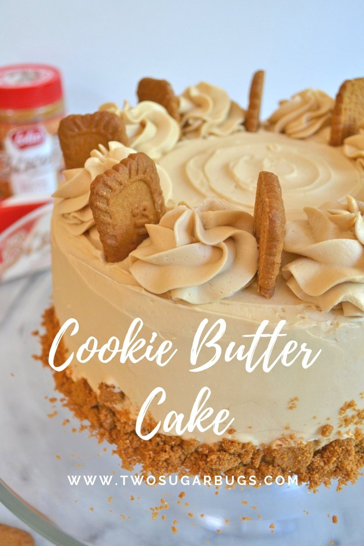 Cookie Butter Cake Pinterest graphic