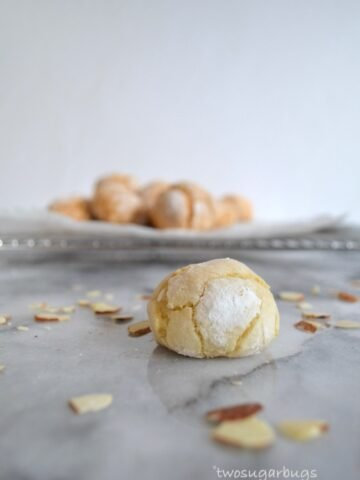 amaretti cookie on a counter