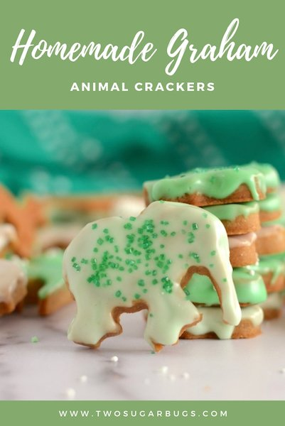 pinterest graphic for homemade graham animal crackers