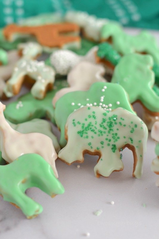 pile of decorated animal crackers