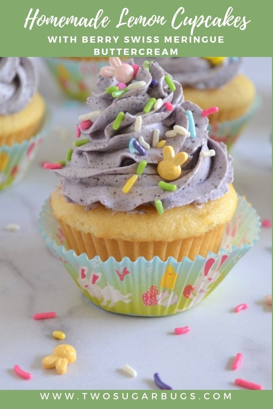 Pinterest graphic for lemon cupcakes