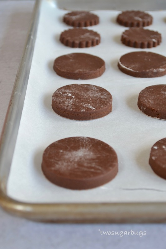 Unbaked cookies on parchment paper