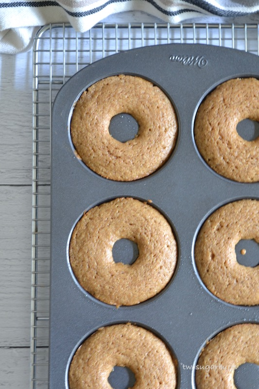 Baked donuts just pulled from the oven