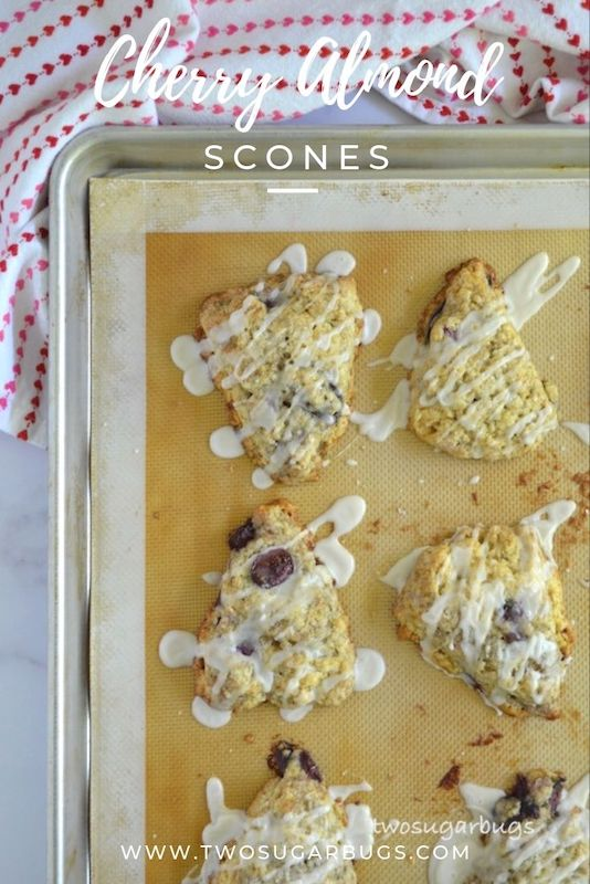 Pinterest image for cherry almond scones