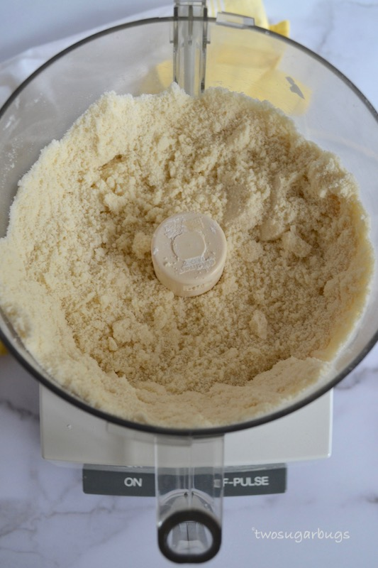 Sugar cookie ingredients showing how they look like wet sand