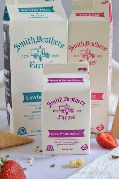 Smith Brothers milk, half and half and heavy cream