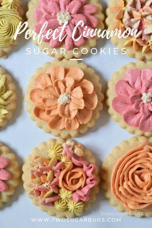 pinterest graphic for perfect cinnamon sugar cookies