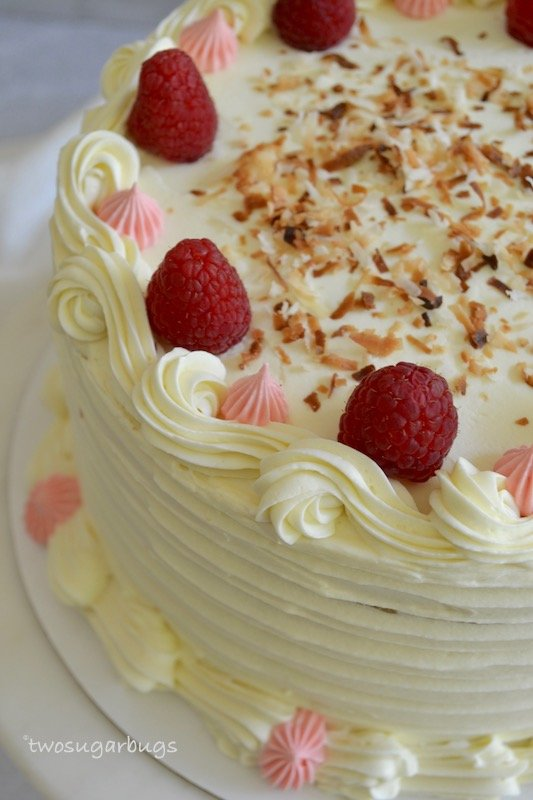decorated perfect coconut cake