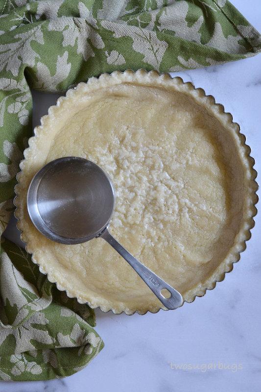 Shortbread tart shell.