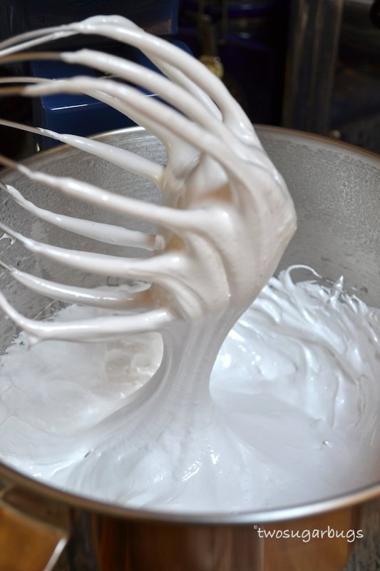 Whisk with fully whipped homemade marshmallow.