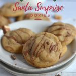 holiday Pinterest graphic for Santa surprise cookies