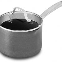 Calphalon 1932455 Classic Nonstick Sauce Pan with Cover, 3.5 quart, Grey