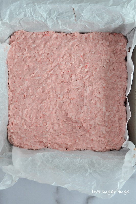 strawberry coconut layer