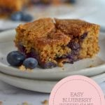pinterest graphic for easy blueberry coffee cake