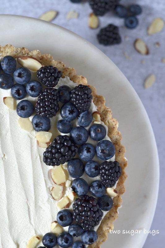 close up of the tart
