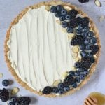 Pinterest graphic for mascarpone tart