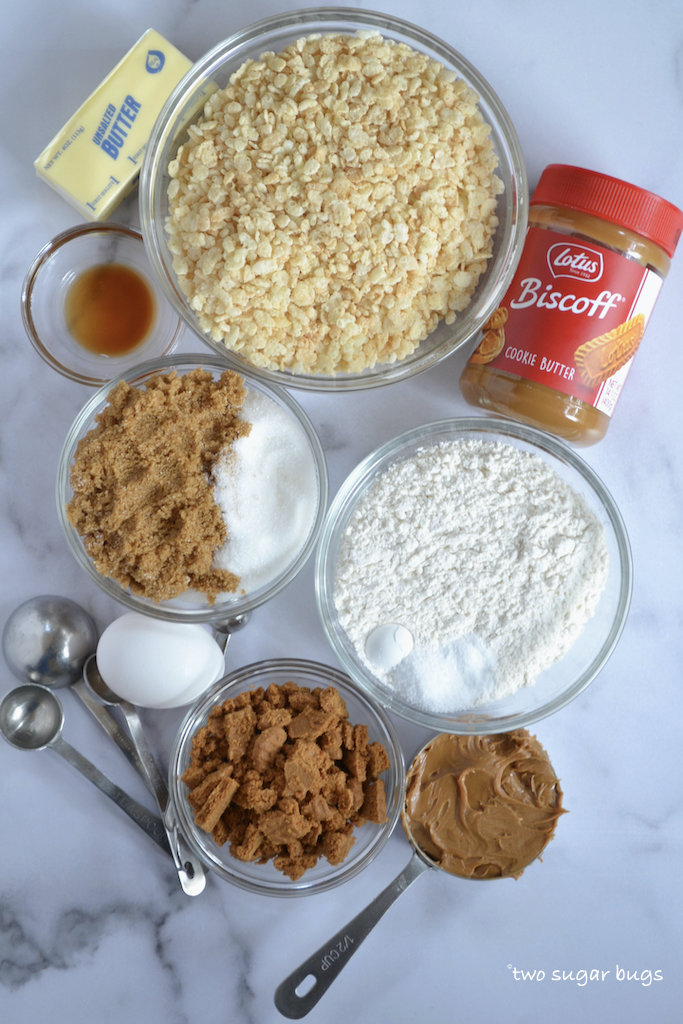 ingredients for biscoff crispy cookies