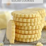 pinterest graphic for white chocolate sugar cookies