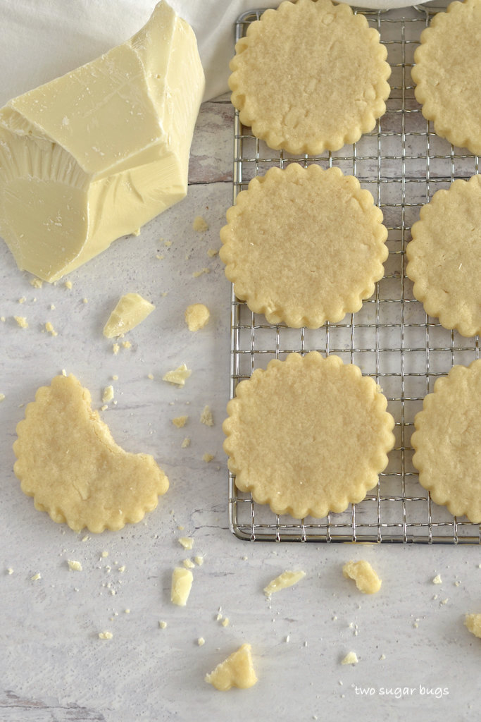 sugar cookies on a cooling rack