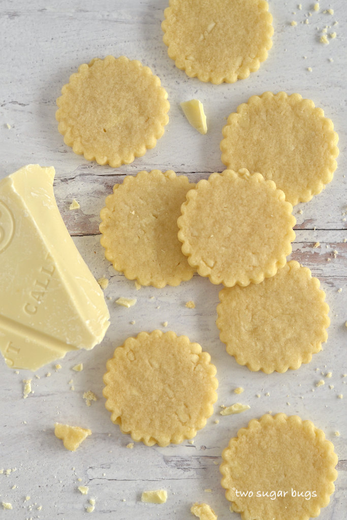 sugar cookies and white chocolate
