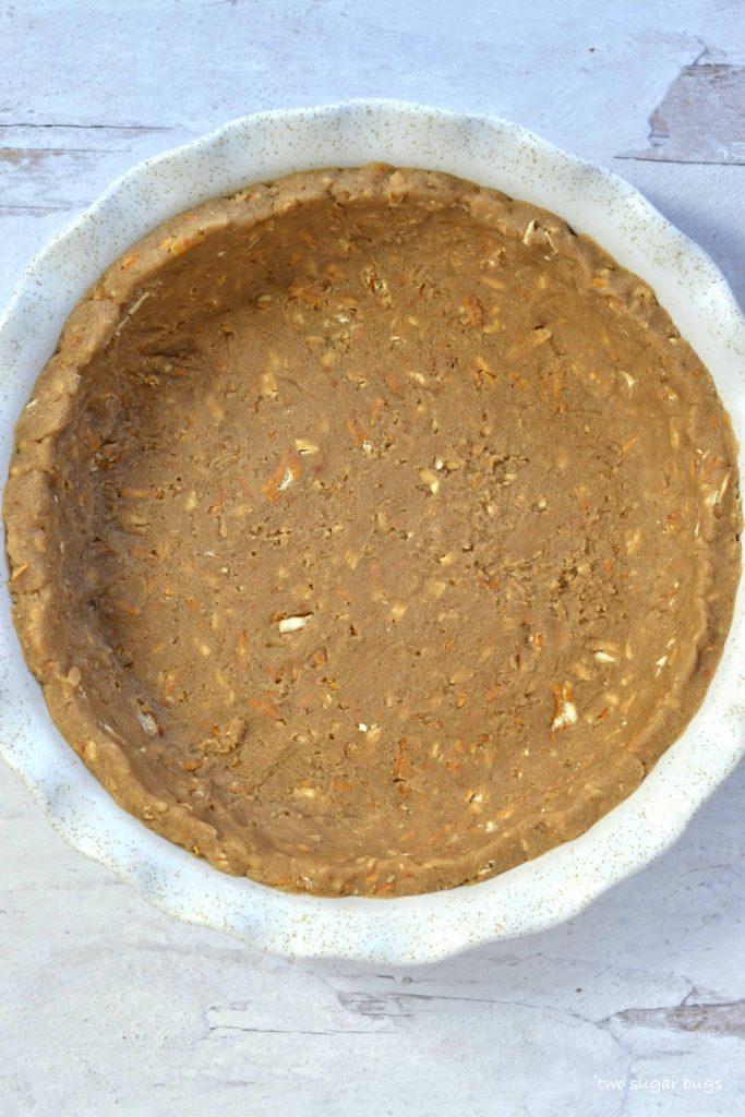 unbaked pretzel graham crust in pie plate