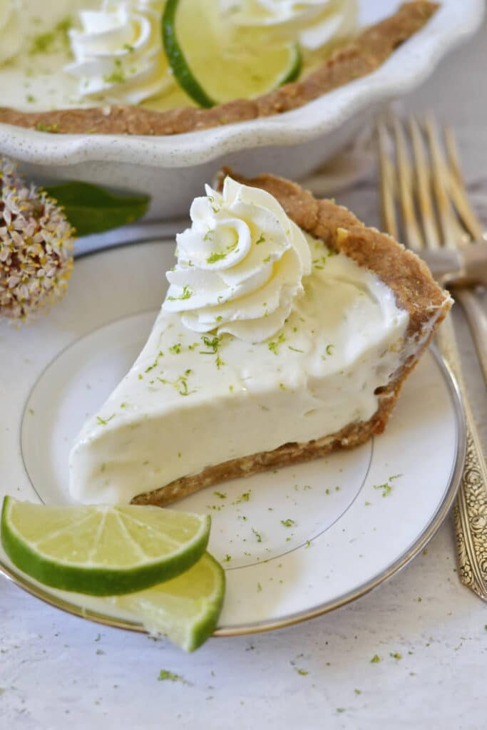 slice of margarita pie on a plate