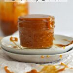 Pinterest graphic for cookie butter caramel