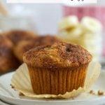 pinterest graphic for banana bran muffins