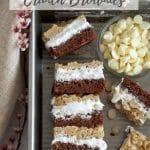 pinterest graphic for sunbutter crunch brownies