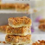 pinterest graphic for butterscotch nut bars