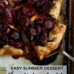 pinterest graphic for cherry nectarine crostata