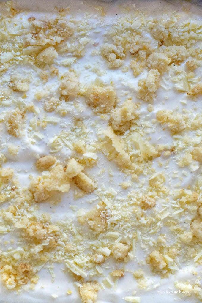 close up of unfrozen ice cream