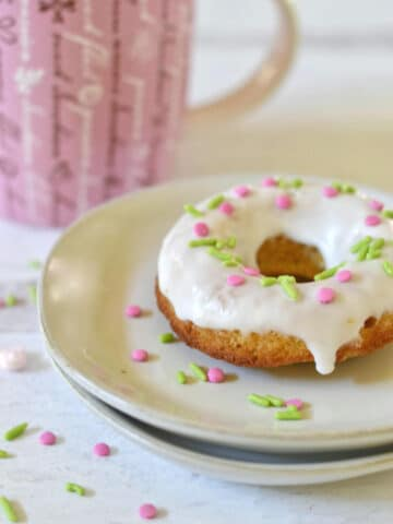 carrot cake donut on a plate