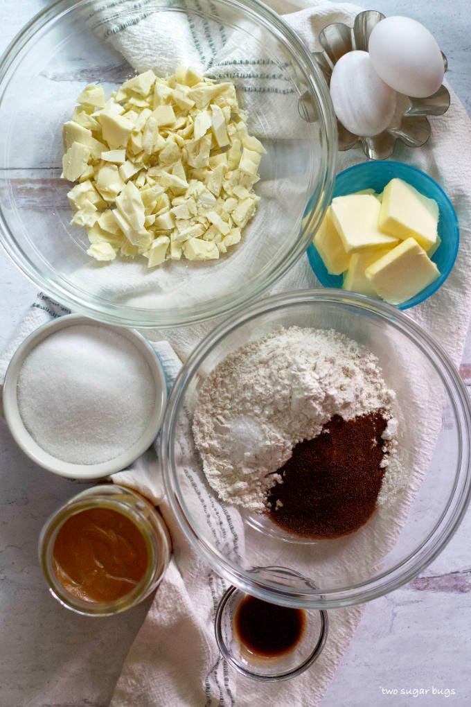 ingredients for salted caramel espresso bars