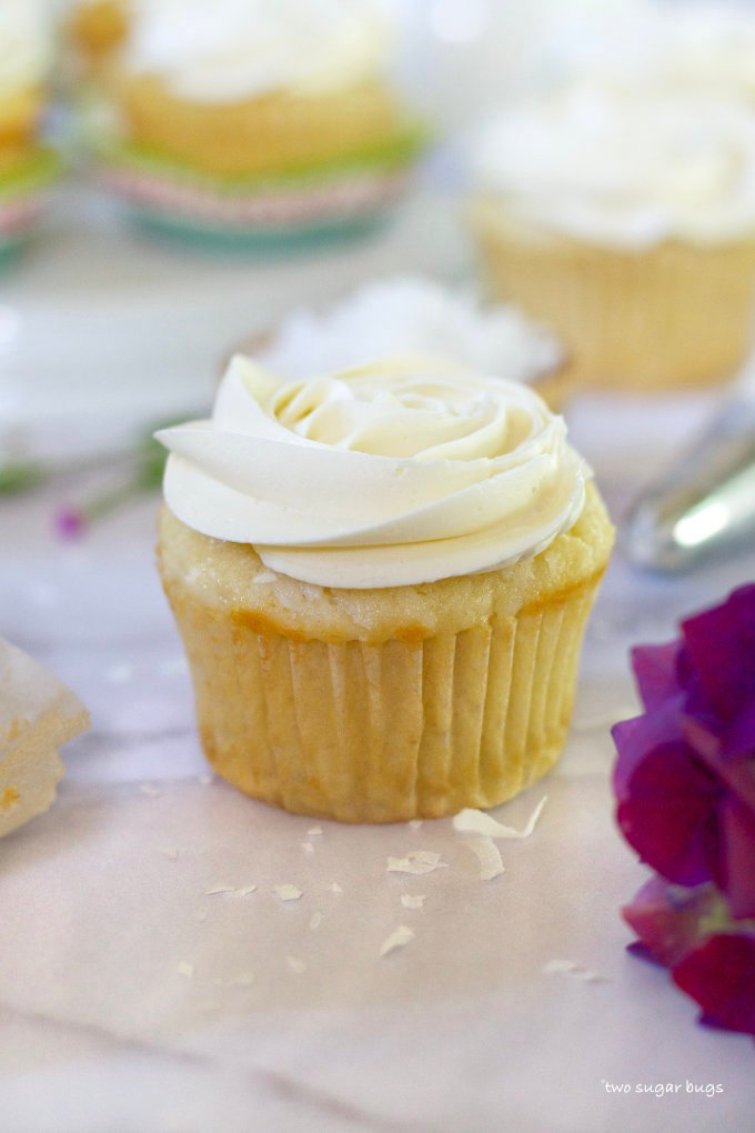 cupcake with a buttercream rosette