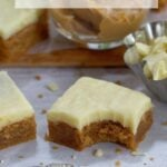 pinterest graphic for peanut butter white chocolate blondies