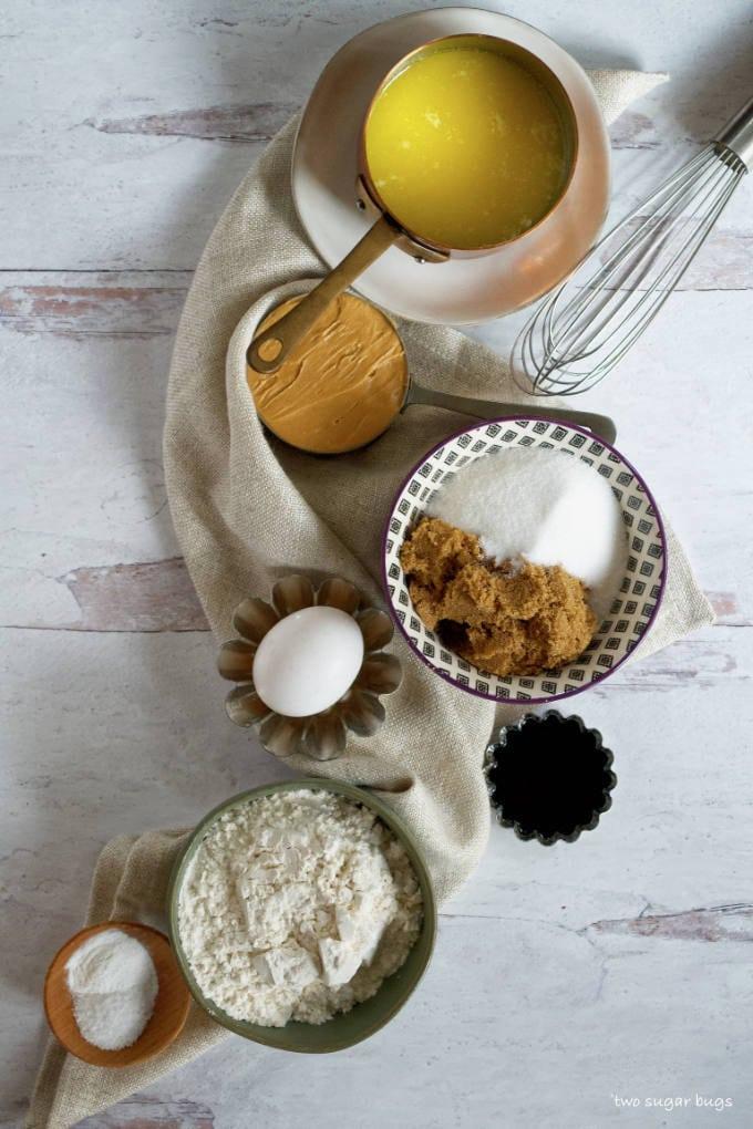 ingredients for peanut butter blondies