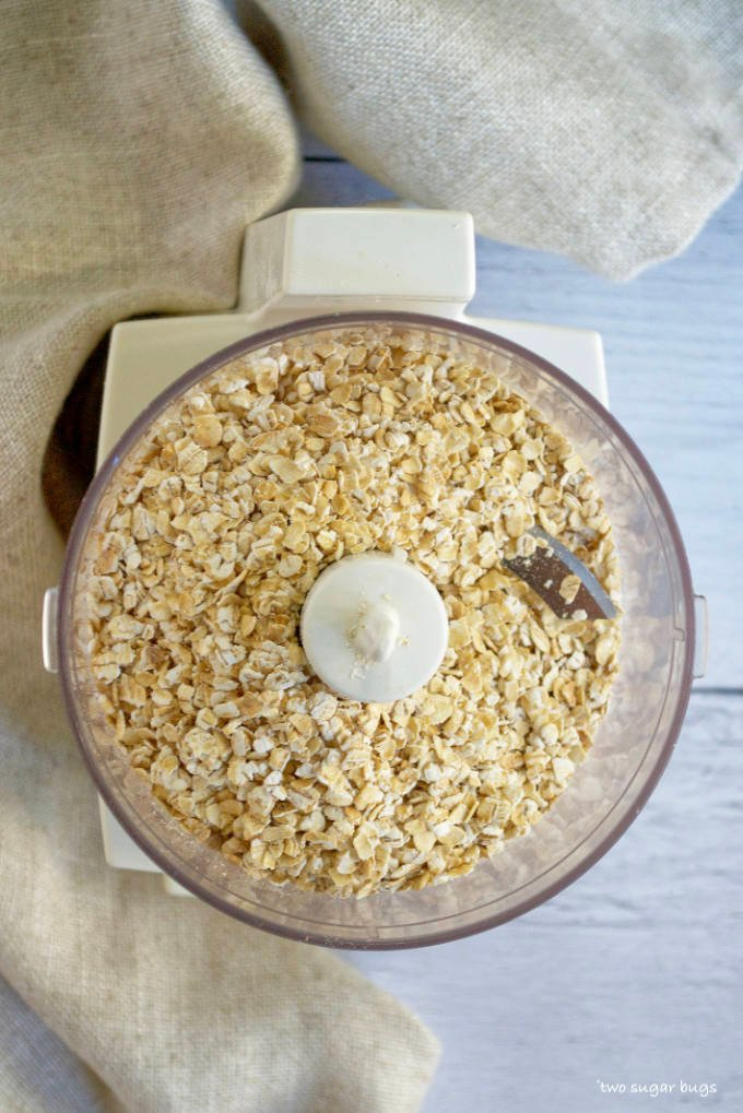 rolled oats in a mini food processor