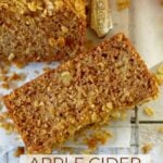 pinterest graphic for apple cider banana bread