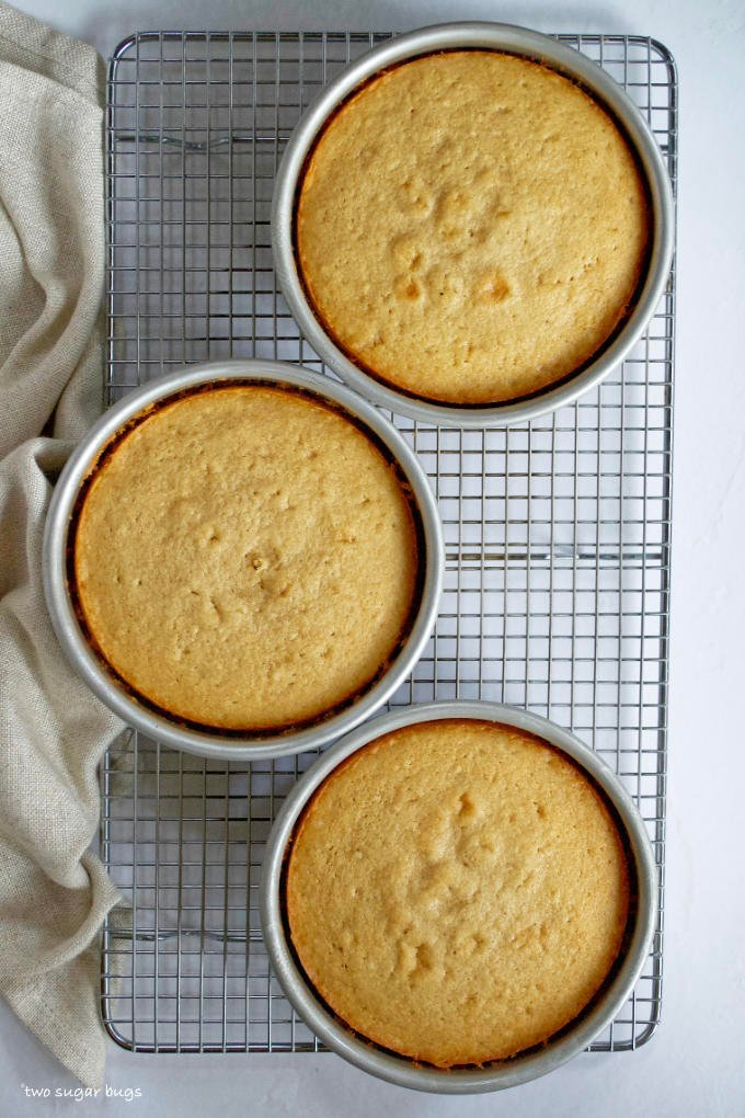 baked brown sugar cakes on a cooling rack