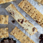 close up of shortbread slices