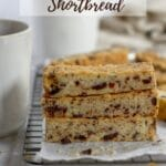 pinterest graphic for dark chocolate cherry shortbread