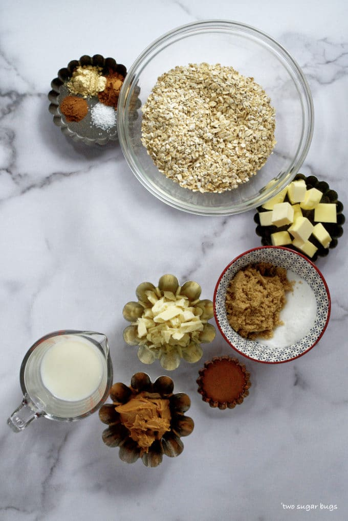ingredients for no bake gingerbread cookie butter cookies