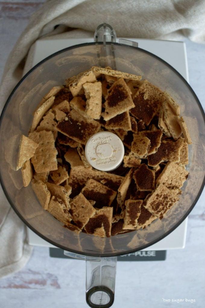 graham crackers, espresso powder and brown sugar in a food processor