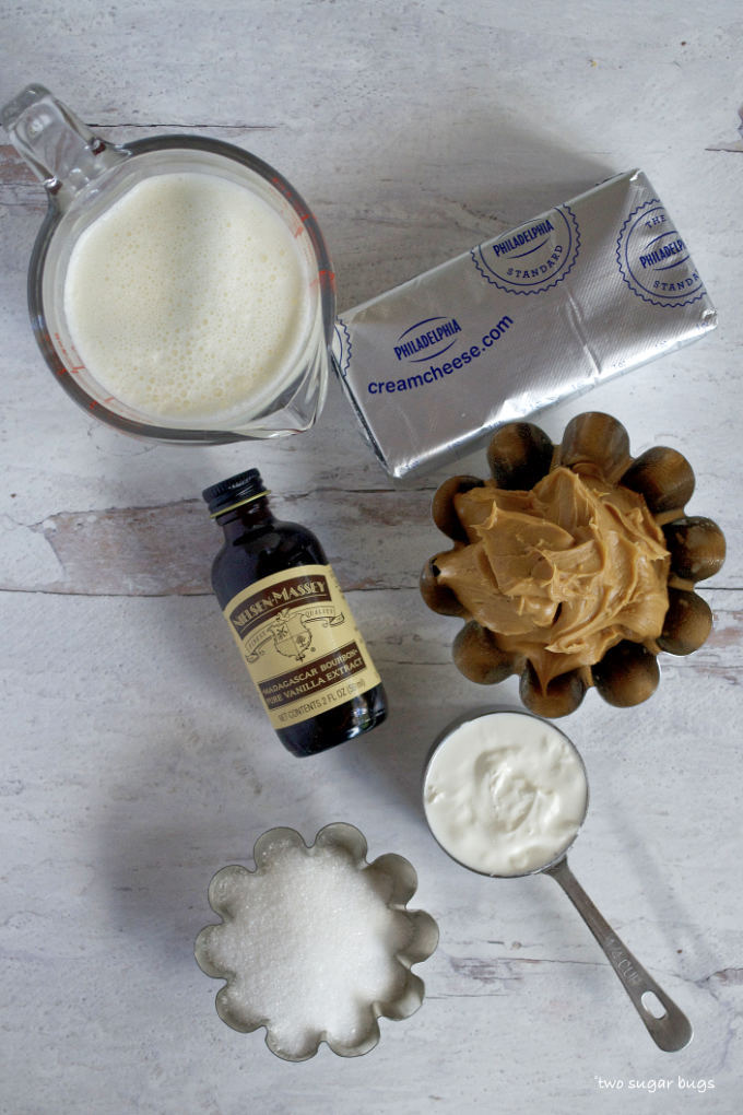 ingredients for peanut butter cheesecake