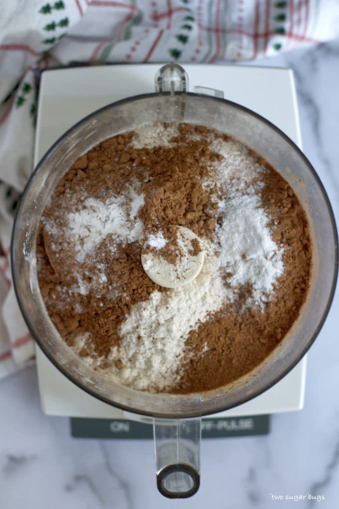 dry ingredients in a food processor