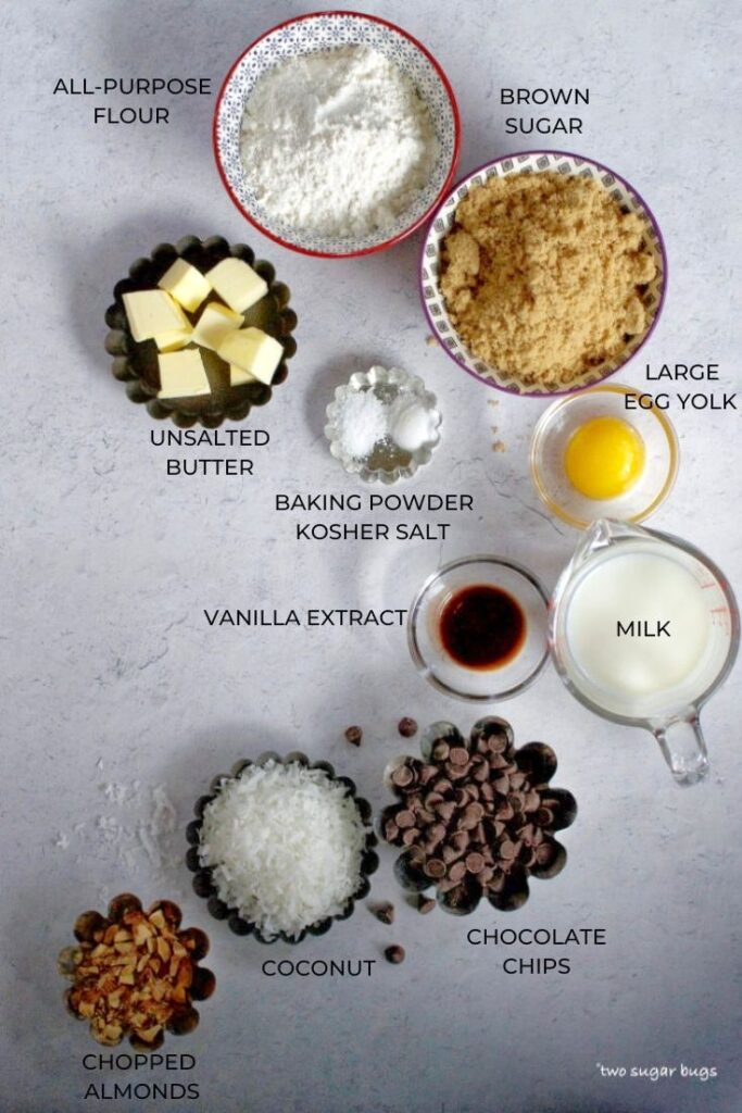 cake and topping ingredients