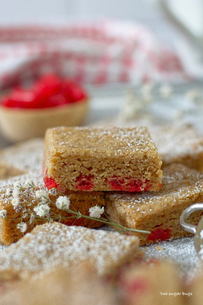 up close look at a red hot cinnamon cookie bar