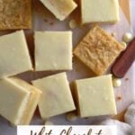 pinterest graphic for easy white chocolate brownies